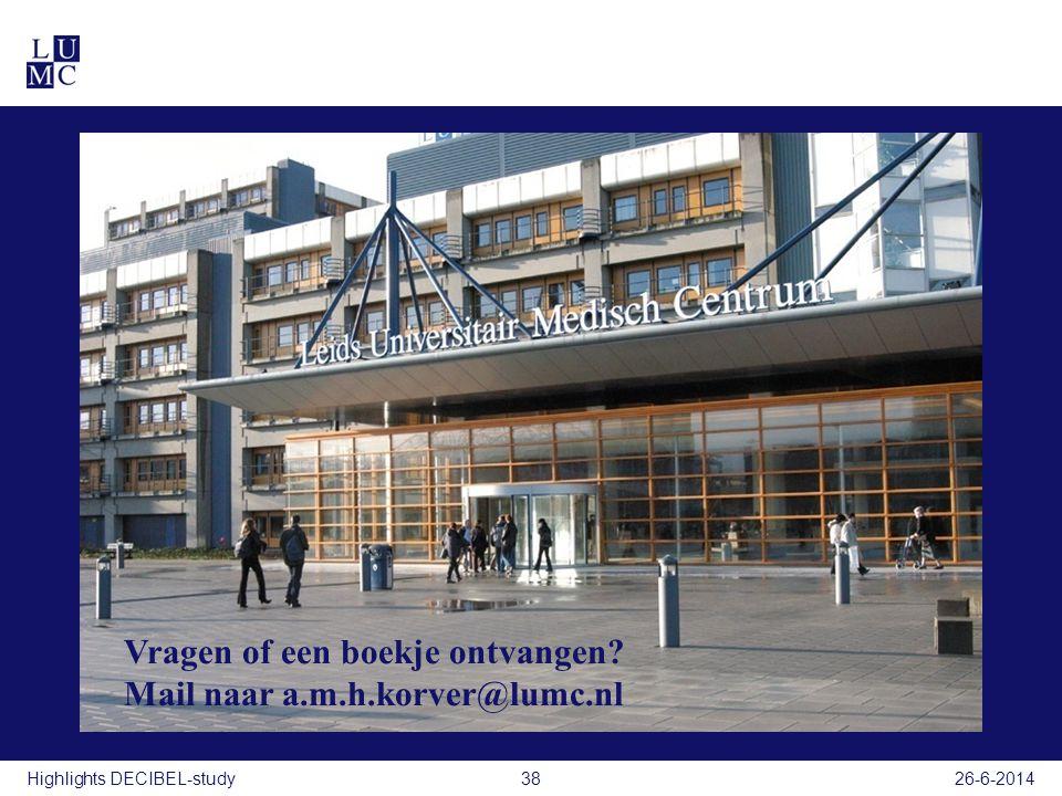 Vragen of een boekje ontvangen Mail naar a.m.h.korver@lumc.nl