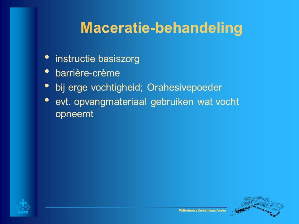 Maceratie-behandeling