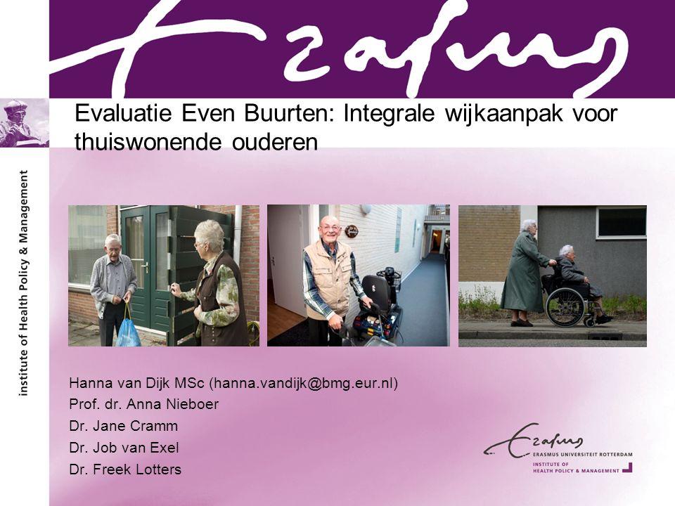 Evaluatie Even Buurten: Integrale wijkaanpak voor thuiswonende ouderen