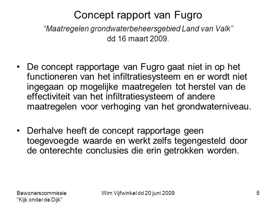Concept rapport van Fugro Maatregelen grondwaterbeheersgebied Land van Valk dd 16 maart 2009.