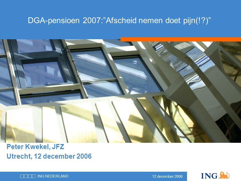 DGA-pensioen 2007: Afscheid nemen doet pijn(! )