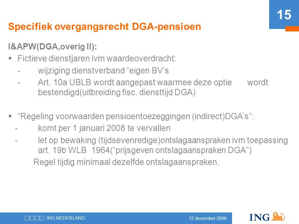Specifiek overgangsrecht DGA-pensioen