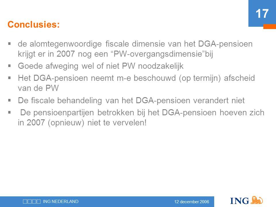 Conclusies: de alomtegenwoordige fiscale dimensie van het DGA-pensioen krijgt er in 2007 nog een PW-overgangsdimensie bij.