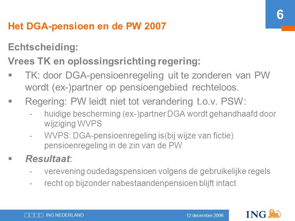 Het DGA-pensioen en de PW 2007