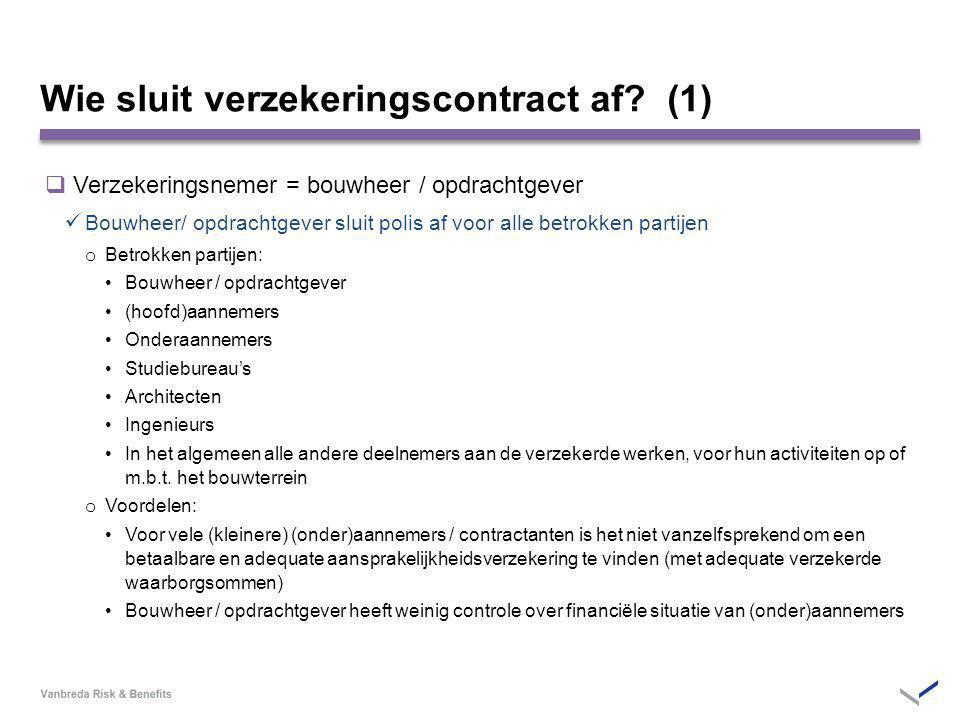 Wie sluit verzekeringscontract af (1)