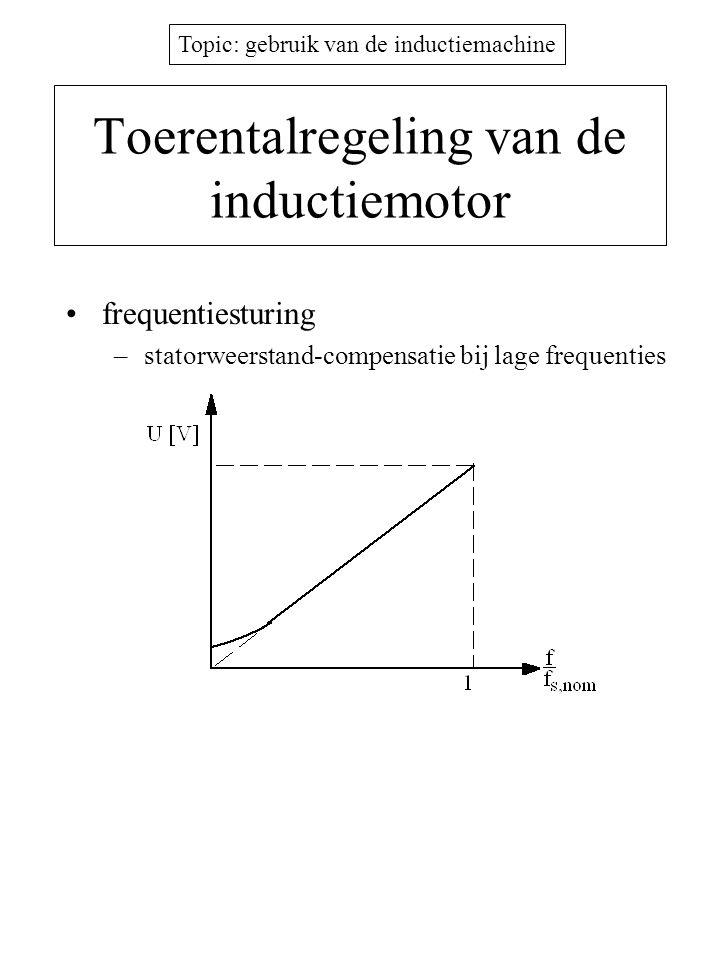Toerentalregeling van de inductiemotor