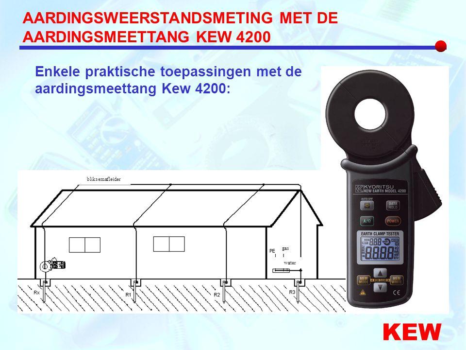 KEW AARDINGSWEERSTANDSMETING MET DE AARDINGSMEETTANG KEW 4200