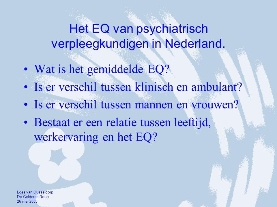 Het EQ van psychiatrisch verpleegkundigen in Nederland.