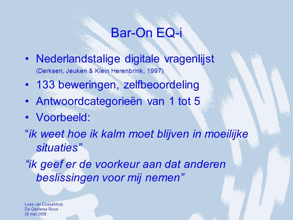 Bar-On EQ-i Nederlandstalige digitale vragenlijst