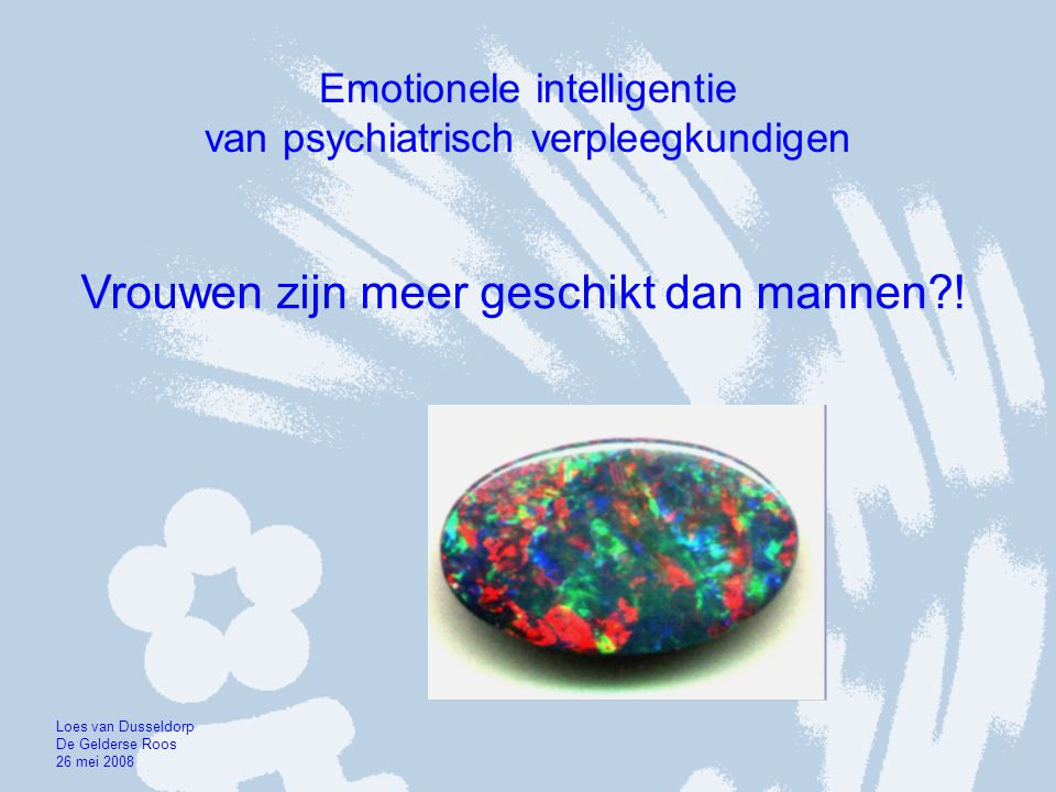Emotionele intelligentie van psychiatrisch verpleegkundigen