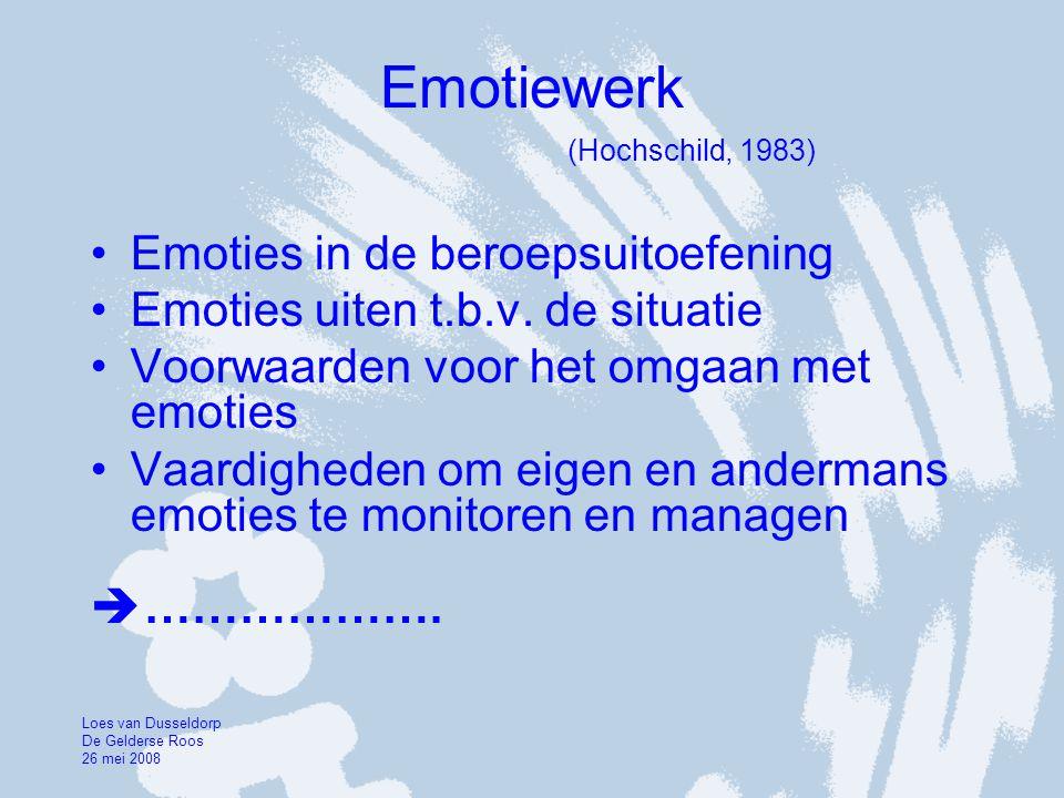 Emotiewerk (Hochschild, 1983)
