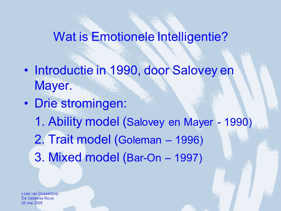 Wat is Emotionele Intelligentie