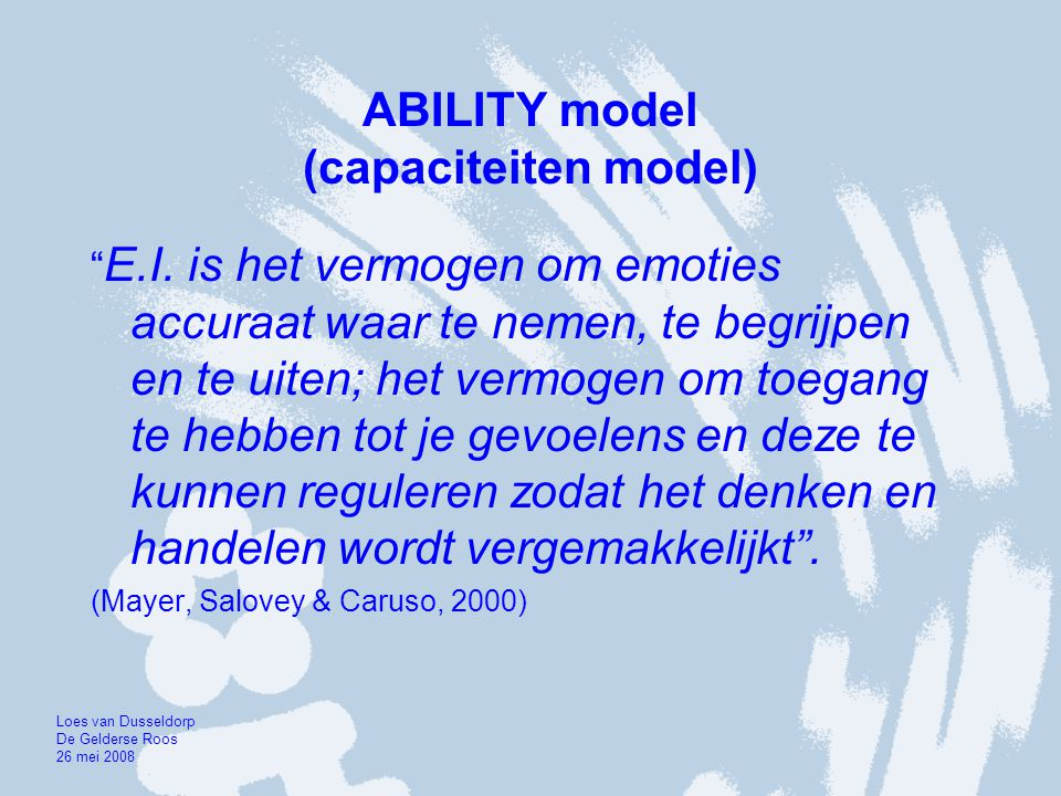 ABILITY model (capaciteiten model)