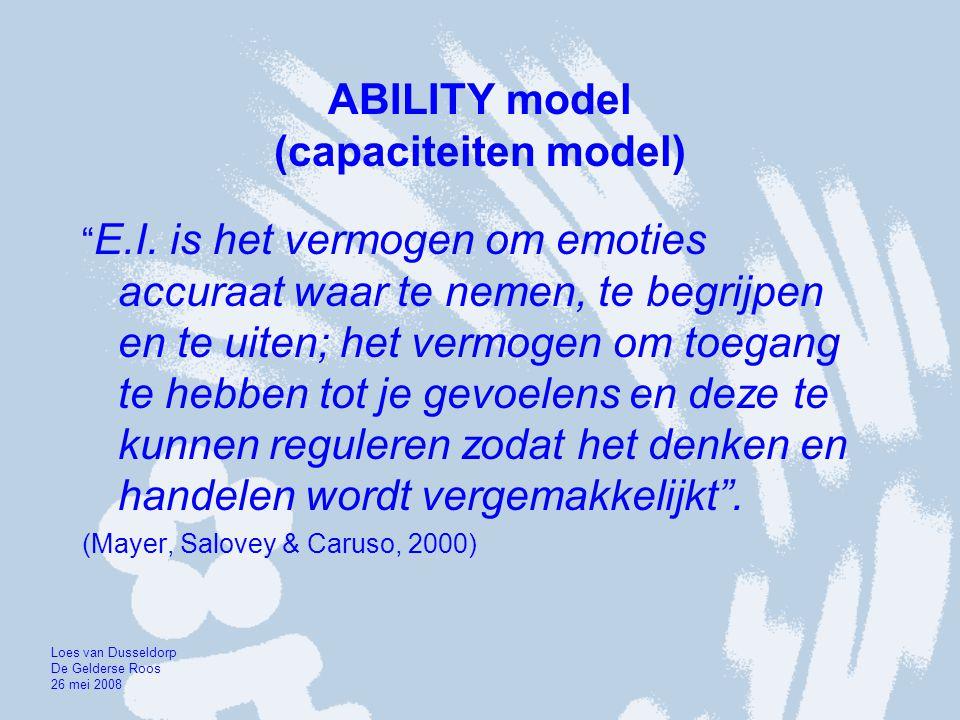 ABILITY model (capaciteiten model)