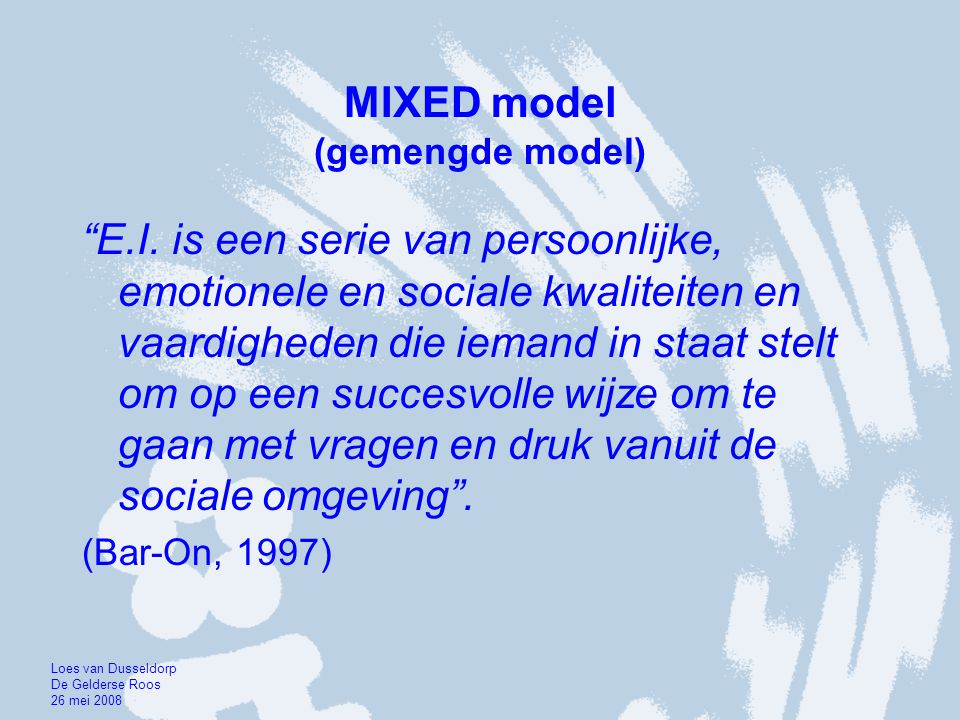 MIXED model (gemengde model)