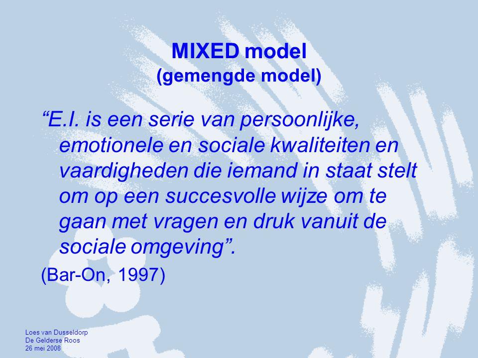 MIXED model (gemengde model)