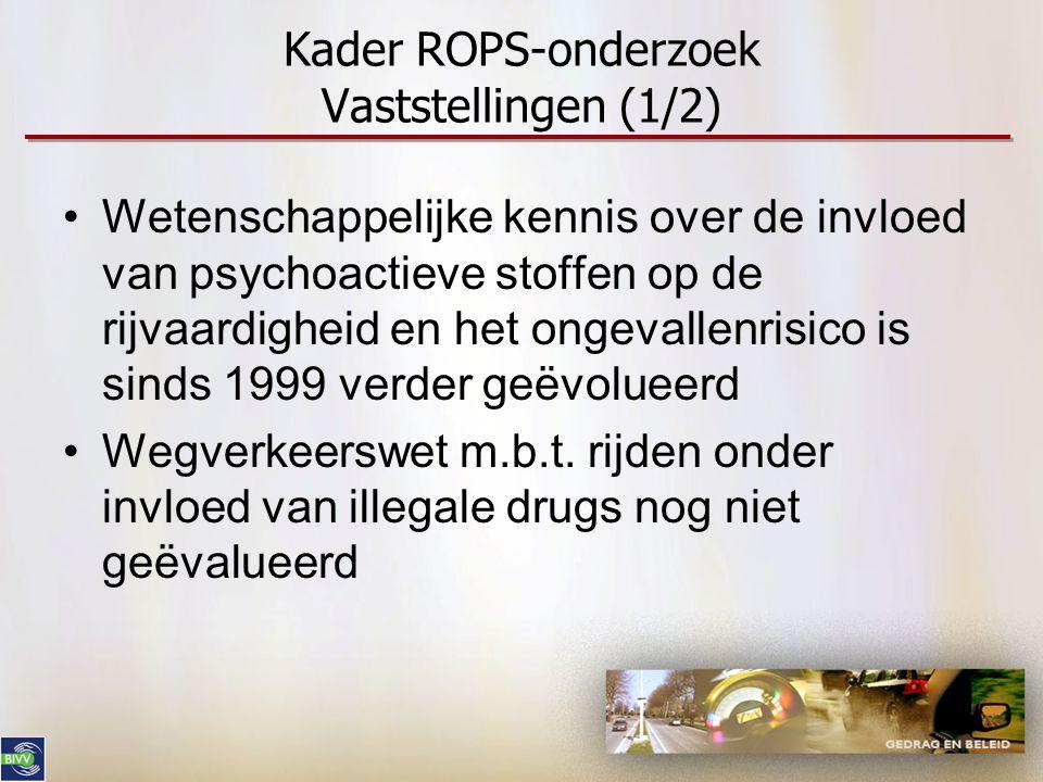 Kader ROPS-onderzoek Vaststellingen (1/2)