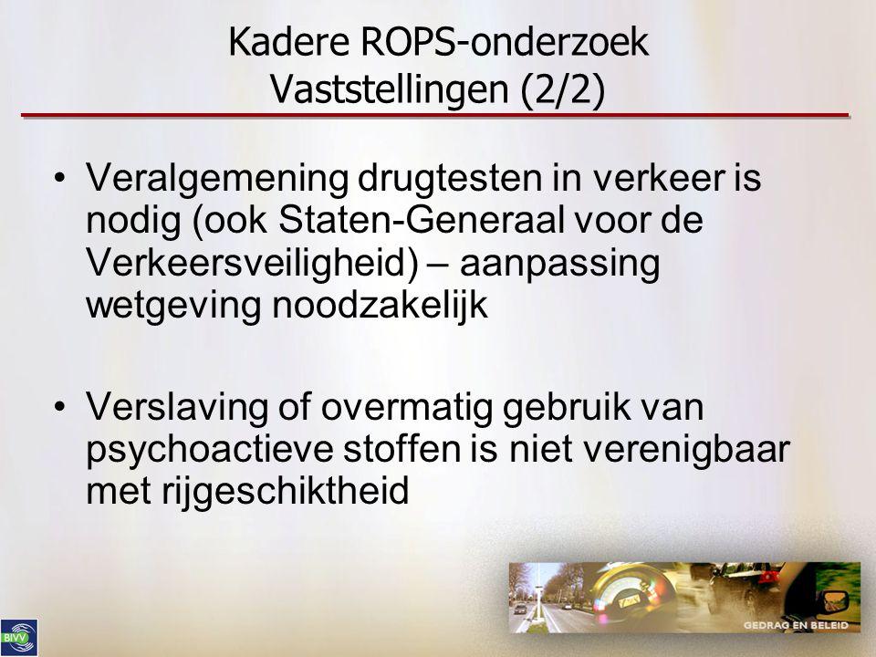Kadere ROPS-onderzoek Vaststellingen (2/2)
