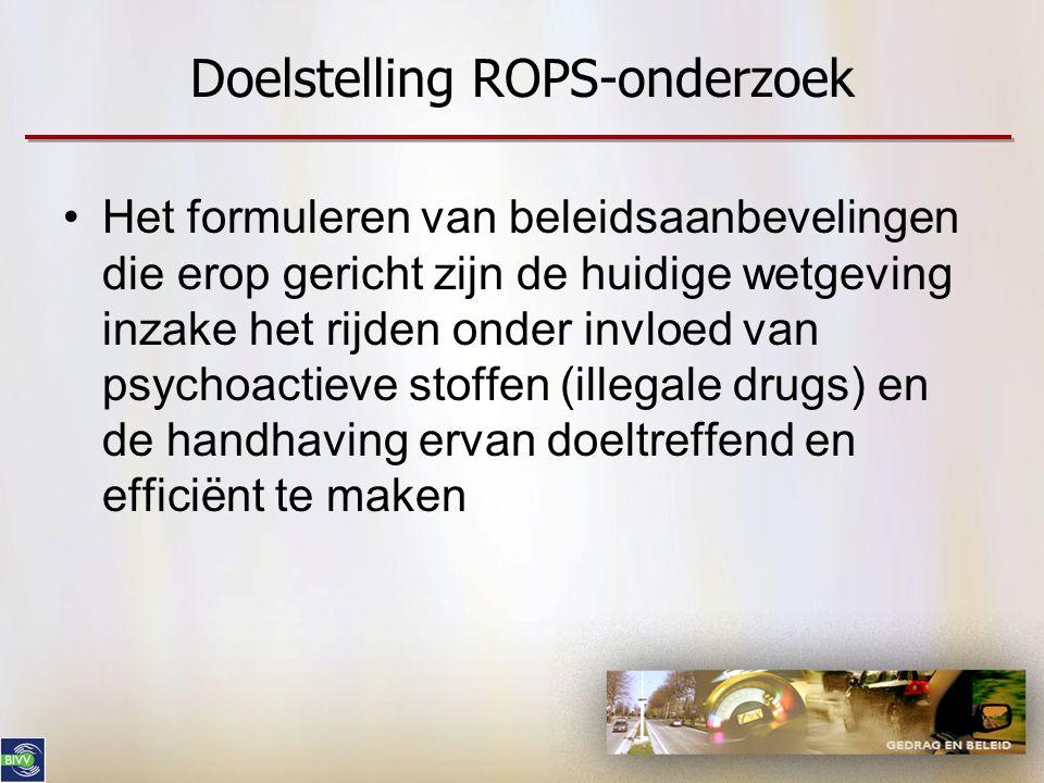 Doelstelling ROPS-onderzoek