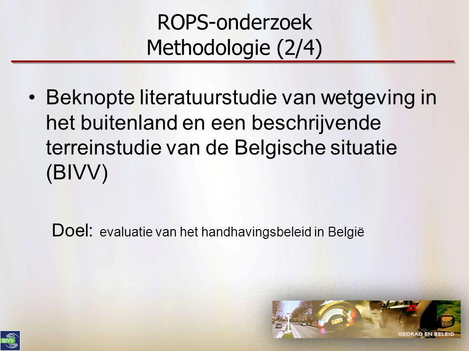 ROPS-onderzoek Methodologie (2/4)