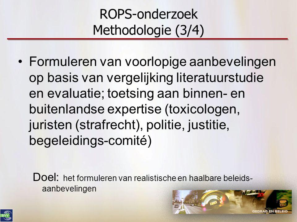 ROPS-onderzoek Methodologie (3/4)