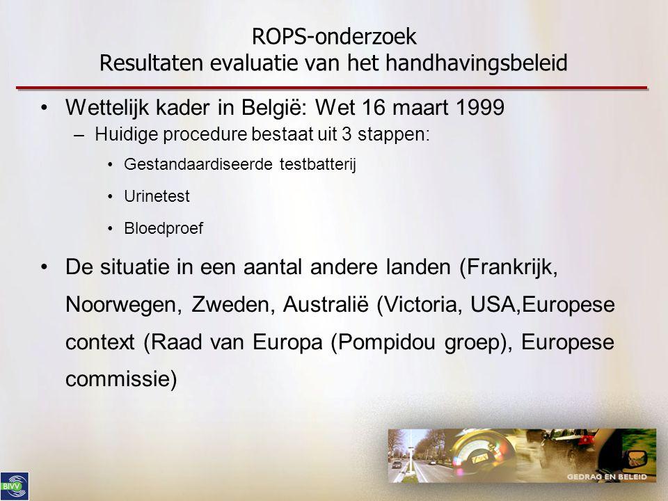 ROPS-onderzoek Resultaten evaluatie van het handhavingsbeleid