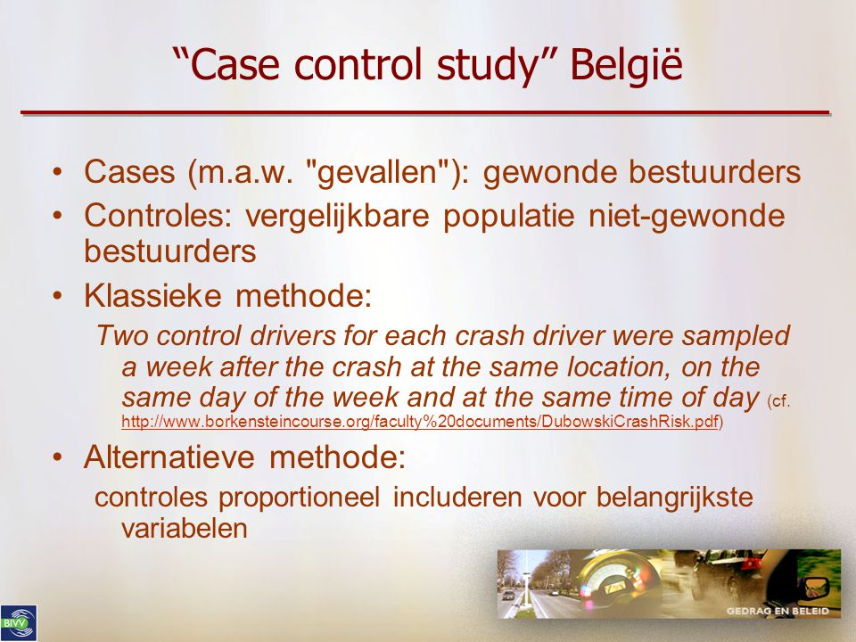 Case control study België