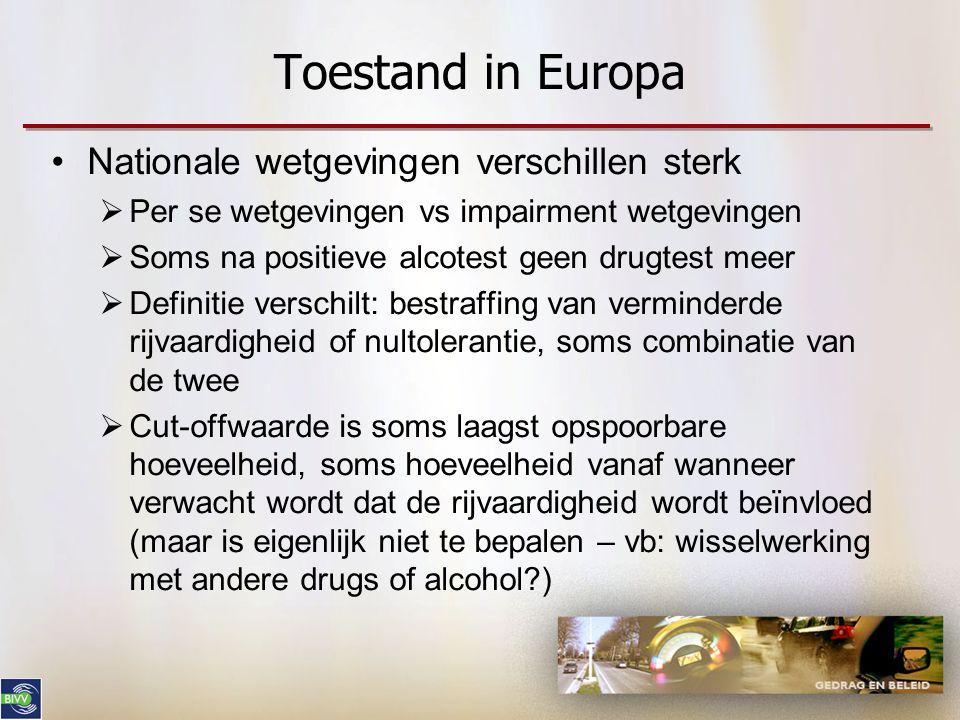 Toestand in Europa Nationale wetgevingen verschillen sterk