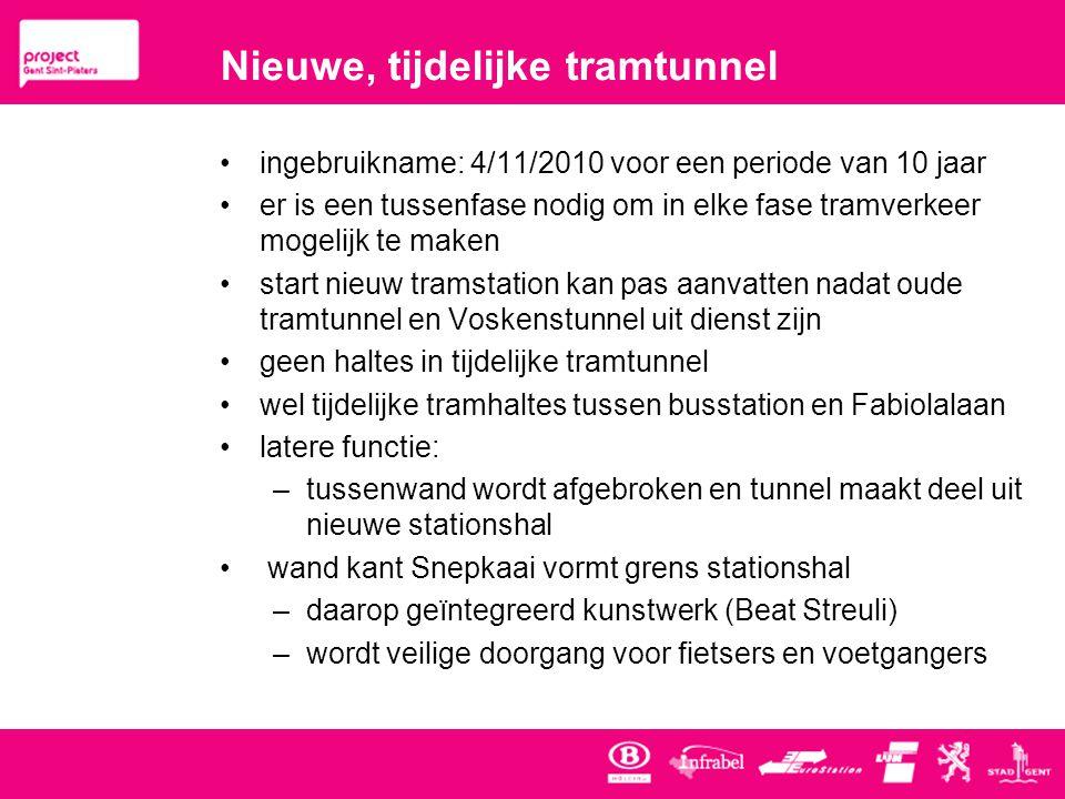 Nieuwe, tijdelijke tramtunnel