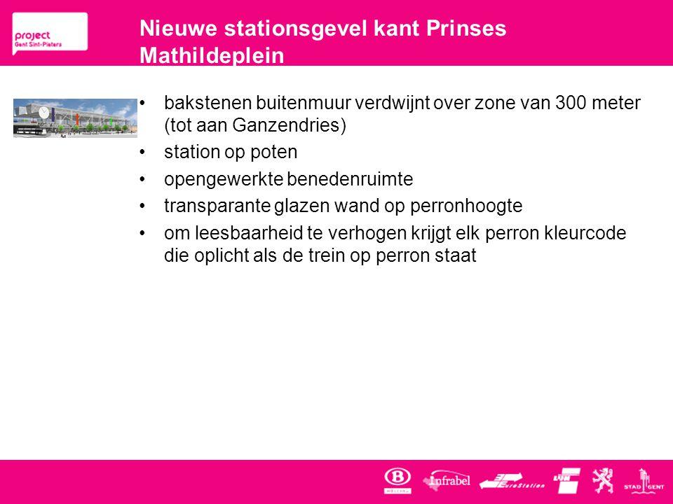 Nieuwe stationsgevel kant Prinses Mathildeplein