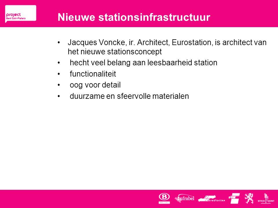 Nieuwe stationsinfrastructuur