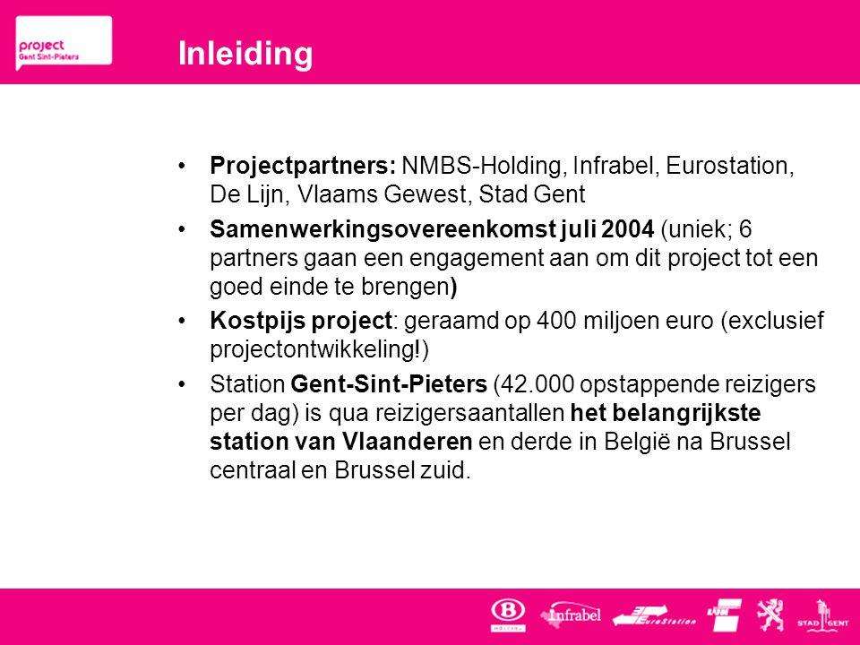 Inleiding Projectpartners: NMBS-Holding, Infrabel, Eurostation, De Lijn, Vlaams Gewest, Stad Gent.
