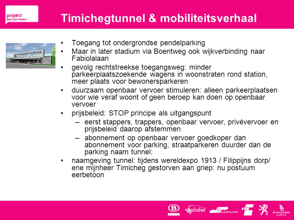 Timichegtunnel & mobiliteitsverhaal