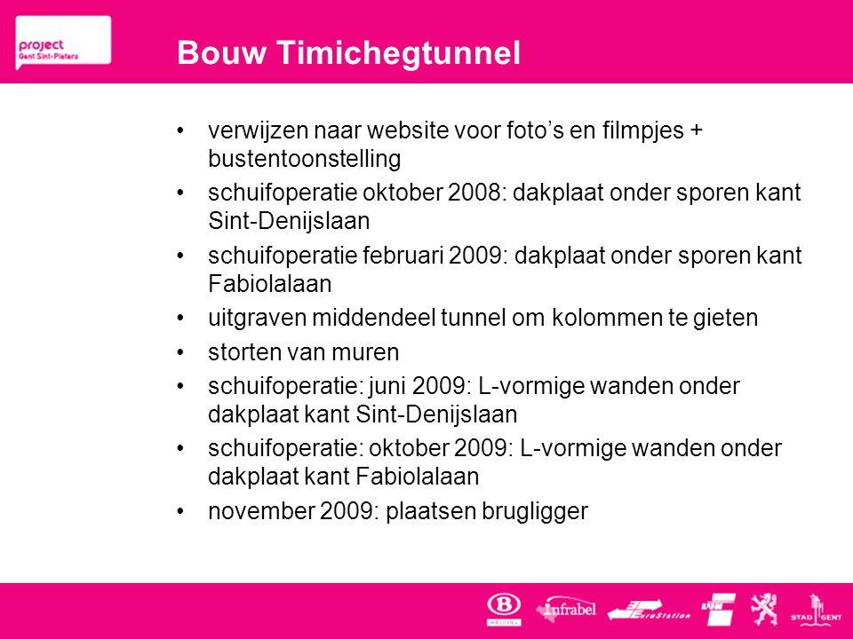 Bouw Timichegtunnel verwijzen naar website voor foto's en filmpjes + bustentoonstelling.