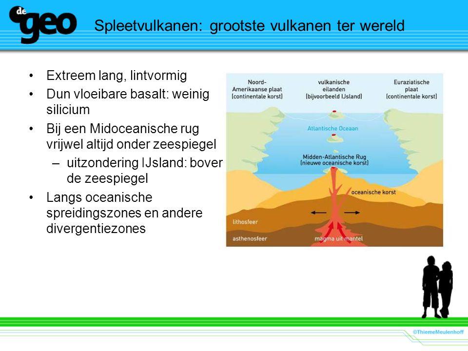Spleetvulkanen: grootste vulkanen ter wereld