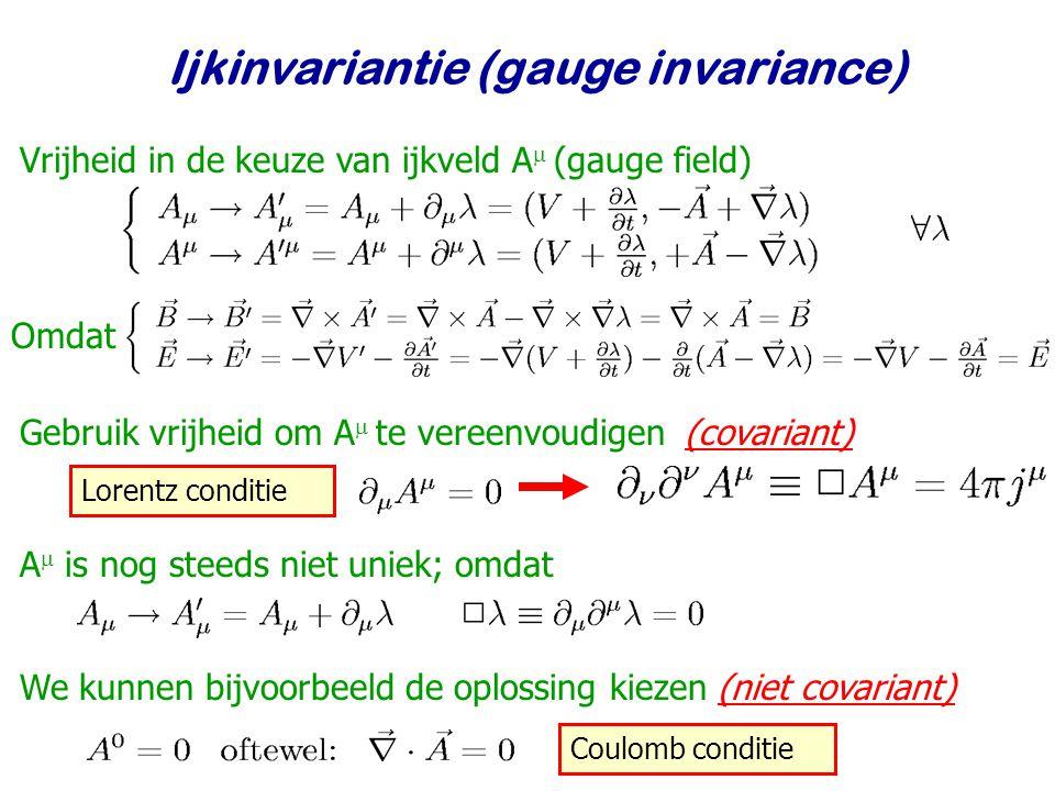 Ijkinvariantie (gauge invariance)