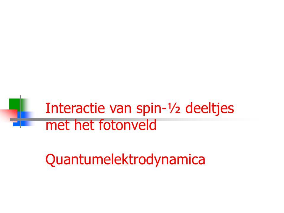 Interactie van spin-½ deeltjes met het fotonveld