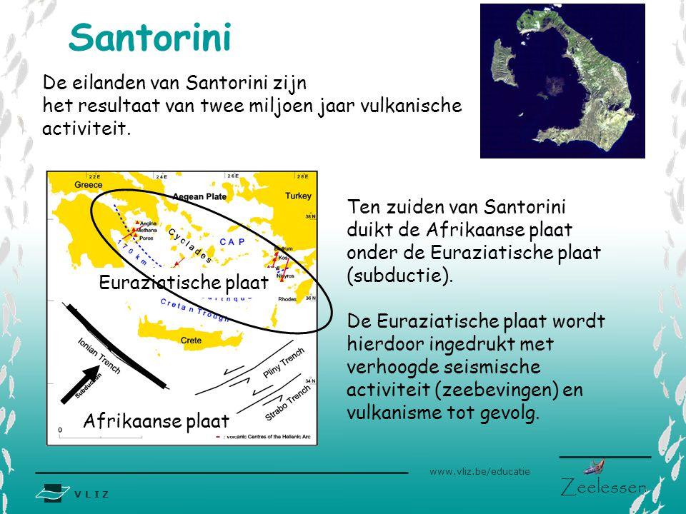 Santorini De eilanden van Santorini zijn