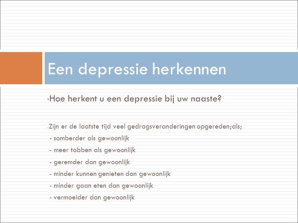 Een depressie herkennen