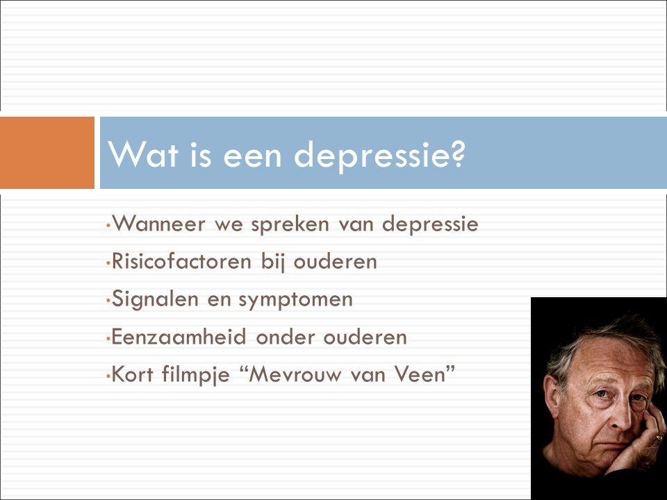 Wat is een depressie Wanneer we spreken van depressie