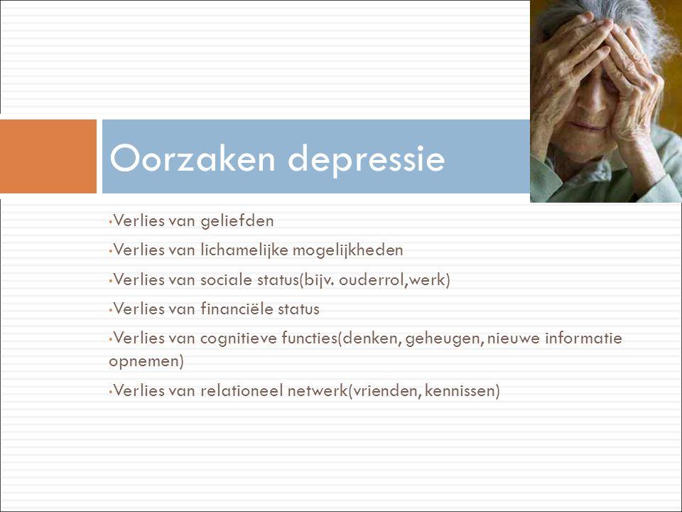 Oorzaken depressie Verlies van geliefden