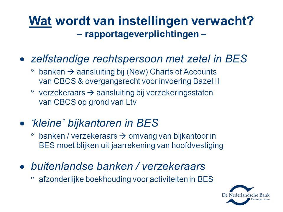 Wat wordt van instellingen verwacht – rapportageverplichtingen –