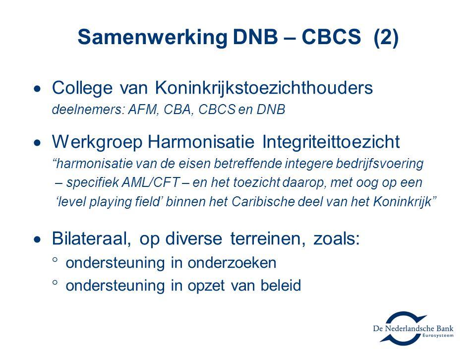 Samenwerking DNB – CBCS (2)