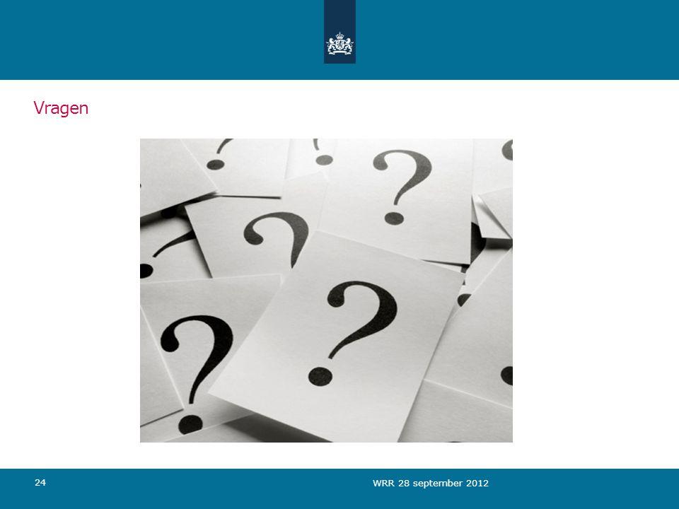 Vragen WRR 28 september 2012
