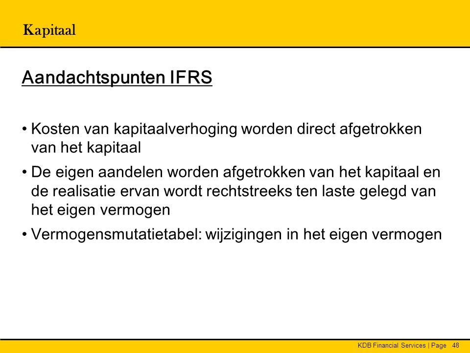 Aandachtspunten IFRS Kapitaal