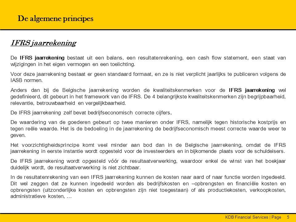 De algemene principes IFRS jaarrekening