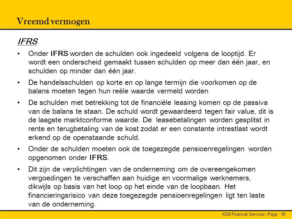 Vreemd vermogen IFRS.
