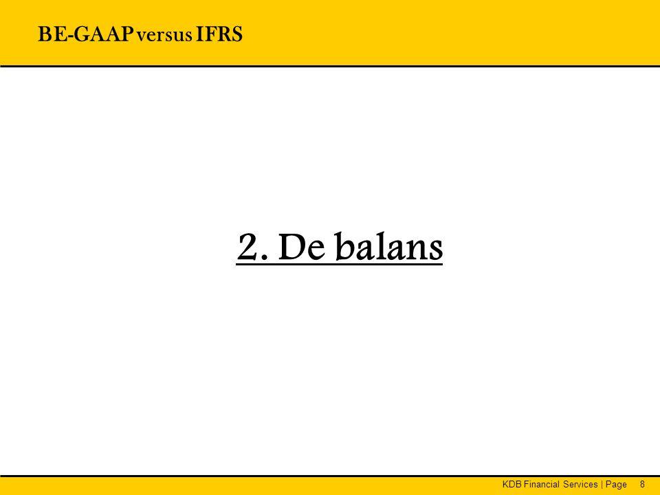 BE-GAAP versus IFRS 2. De balans