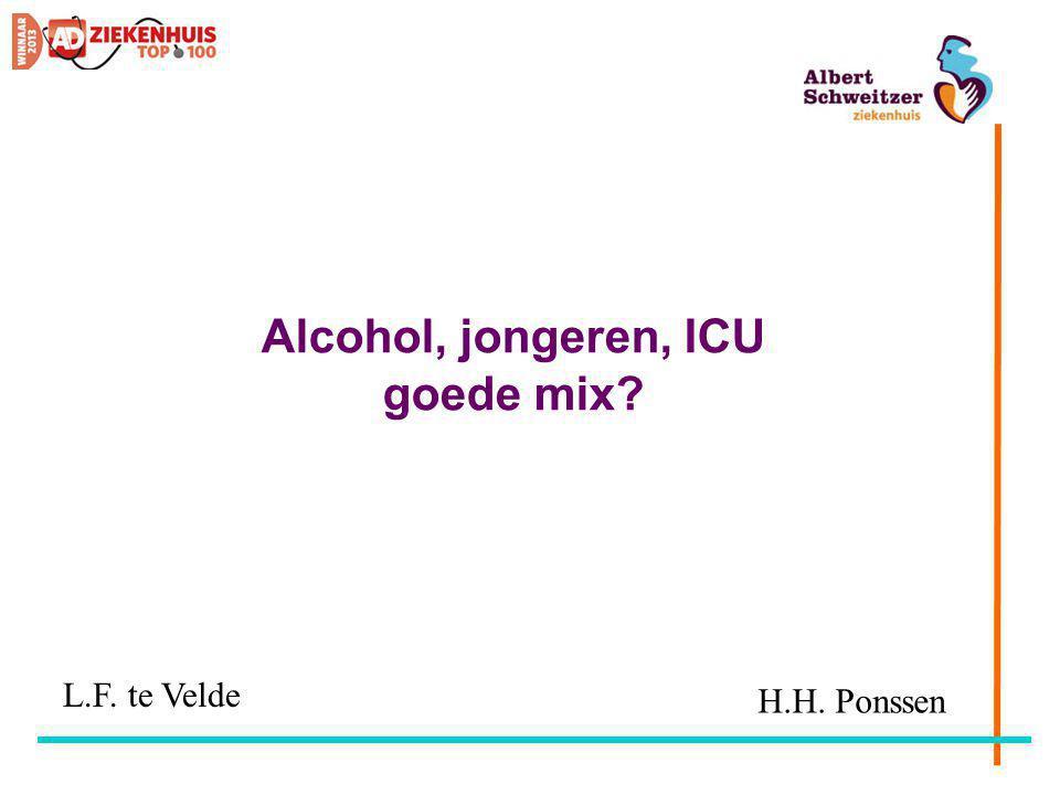 Alcohol, jongeren, ICU goede mix