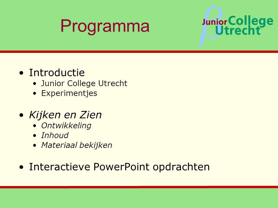 Programma Introductie Kijken en Zien